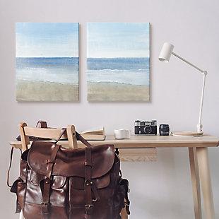 Stupell Industries  Coastal Seafoam Beach Waves Soft Tide Landscape, 24 x 30, Canvas Wall Art, Blue, rollover