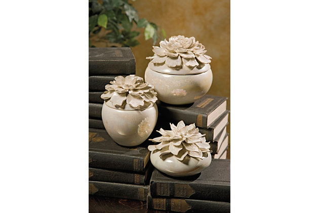 Blair Hand-sculpted Floral Boxes (Set of 3), , large