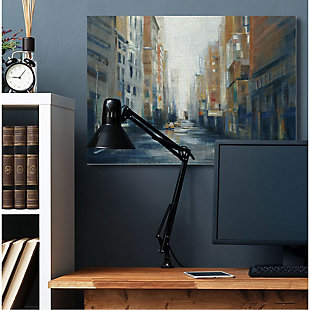 Stupell Industries  Cityscape Street After Rain Painting, 36 x 48, Canvas Wall Art, Multi, rollover