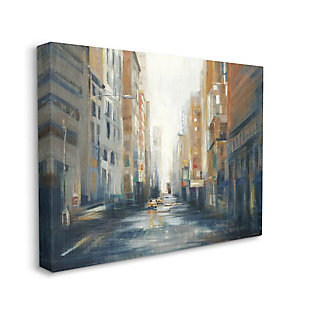 Stupell Industries  Cityscape Street After Rain Painting, 36 x 48, Canvas Wall Art, Multi, large