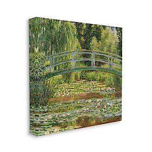 Stupell Industries  The Water Lily Pond Monet Classic Painting, 36 x 36, Canvas Wall Art, Green, large
