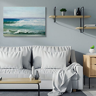 Stupell Industries  Abstract Waves Crashing Nautical Seascape Painting, 36 x 48, Canvas Wall Art, Multi, rollover