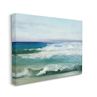 Stupell Industries  Abstract Waves Crashing Nautical Seascape Painting, 36 x 48, Canvas Wall Art, Multi, large