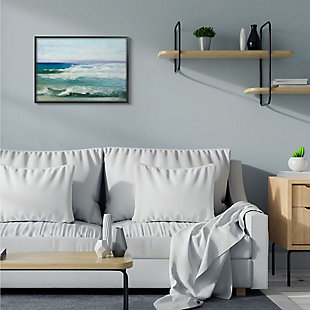 Stupell Industries  Abstract Waves Crashing Nautical Seascape Painting, 24 x 30, Framed Wall Art, Multi, rollover