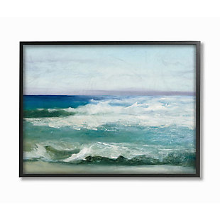 Stupell Industries  Abstract Waves Crashing Nautical Seascape Painting, 24 x 30, Framed Wall Art, Multi, large