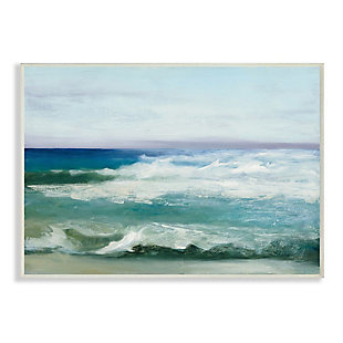 Stupell Industries  Abstract Waves Crashing Nautical Seascape Painting, 13 x 19, Wood Wall Art, Multi, large