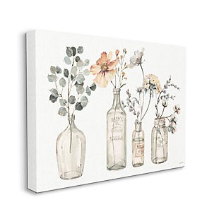 Stupell Industries  Antique Floral Bouquets Flowers Glass Jar Painting, 36 x 48, Canvas Wall Art, Multi, large