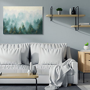 Stupell Industries Abstract Pine Forest Landscape With Mist Green Painting, 36 X 48, Canvas Wall Art, Green, rollover