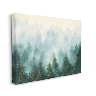 Stupell Industries Abstract Pine Forest Landscape With Mist Green Painting, 36 X 48, Canvas Wall Art, Green, large