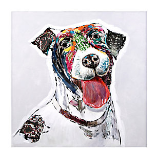 Saber the Dog Oil Painting, , large