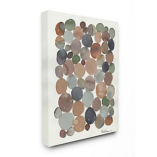 Stupell Industries  Earth Tone Organic Circles Abstract Cobblestone Design, 36 x 48, Canvas Wall Art, Off White, large