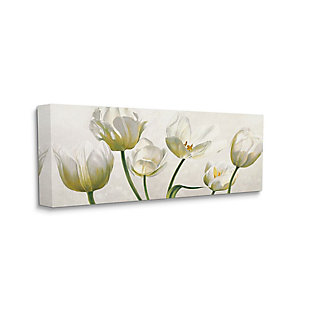 Stupell Industries Soft White Blooming Tulip Petals Floral Details, 20 X 48, Canvas Wall Art, Off White, large