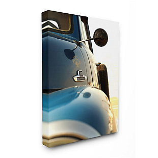 Stupell Industries  Vintage Automobile Side Detail Truck Photograph, 36 x 48, Canvas Wall Art, Blue, large