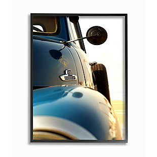 Stupell Industries  Vintage Automobile Side Detail Truck Photograph, 24 x 30, Framed Wall Art, Blue, large