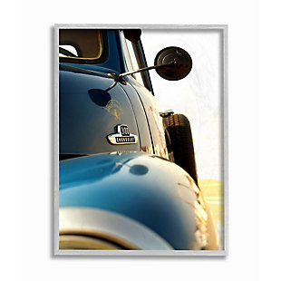 Stupell Industries  Vintage Automobile Side Detail Truck Photograph, 16 x 20, Framed Wall Art, Blue, large