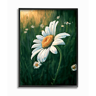Stupell Industries  Daisy Details in Field of Spring Flowers, 24 x 30, Framed Wall Art, Green, large