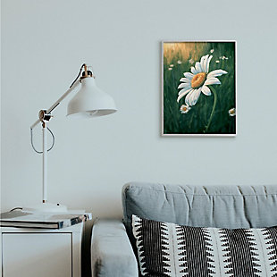 Stupell Industries  Daisy Details in Field of Spring Flowers, 16 x 20, Framed Wall Art, Green, rollover