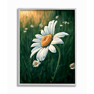 Stupell Industries  Daisy Details in Field of Spring Flowers, 16 x 20, Framed Wall Art, Green, large