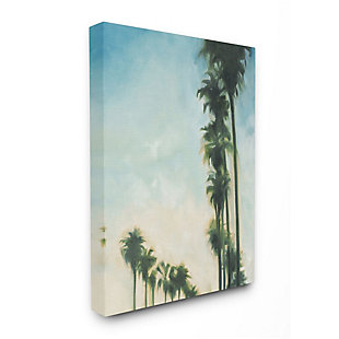 Stupell Industries  Soft Tropical Palm Trees in a Row, 36 x 48, Canvas Wall Art, Multi, large