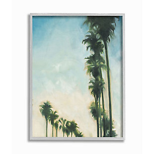 Stupell Industries  Soft Tropical Palm Trees in a Row, 16 x 20, Framed Wall Art, Multi, large