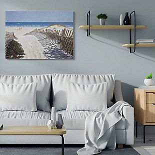 Stupell Industries Fenced Pathway To Beach Summer Nautical Painting, 36 X 48, Canvas Wall Art, Multi, rollover