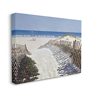 Stupell Industries Fenced Pathway To Beach Summer Nautical Painting, 36 X 48, Canvas Wall Art, Multi, large