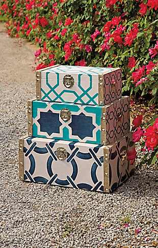 Home Accents Boxes (Set of 3), , large