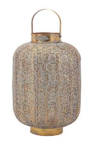 Home Accents Large Pierced Lantern, , large