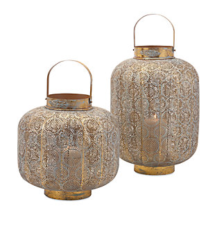 Home Accents Small Pierced Lantern, , large