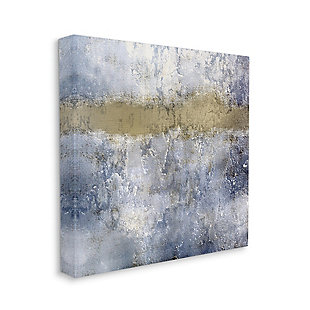 Stupell Industries  Abstract Blue Beige Distressed Urban Texture Design, 36 x 36, Canvas Wall Art, Blue, large