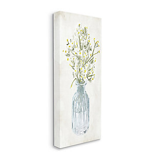 Stupell Industries Quaint White Daisies In Blue Glass Jar, 20 X 48, Canvas Wall Art, Off White, large