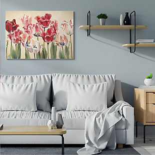 Stupell Industries  Red and White Blooming Florals Charming Tulips, 36 x 48, Canvas Wall Art, Yellow, rollover