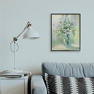 Stupell Industries  Sunlit Bouquet of Daisies Blue Green Pastels, 24 x 30, Framed Wall Art, Green, rollover