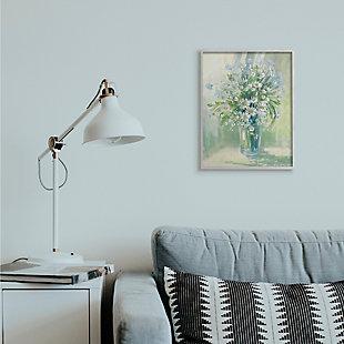 Stupell Industries  Sunlit Bouquet of Daisies Blue Green Pastels, 16 x 20, Framed Wall Art, Green, rollover