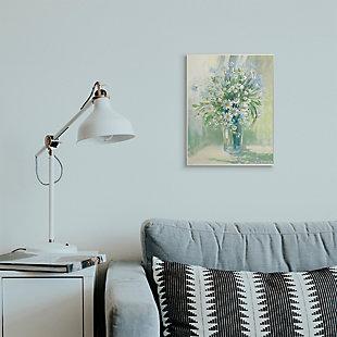 Stupell Industries  Sunlit Bouquet of Daisies Blue Green Pastels, 13 x 19, Wood Wall Art, Green, rollover