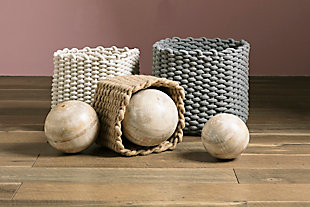 Natural Cotton Rope Baskets (Set of 3), , rollover