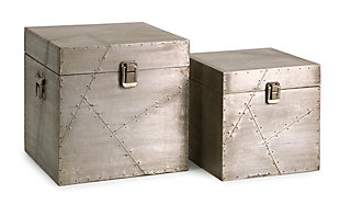 Home Accents Aluminum Clad Boxes (Set of 2), , large