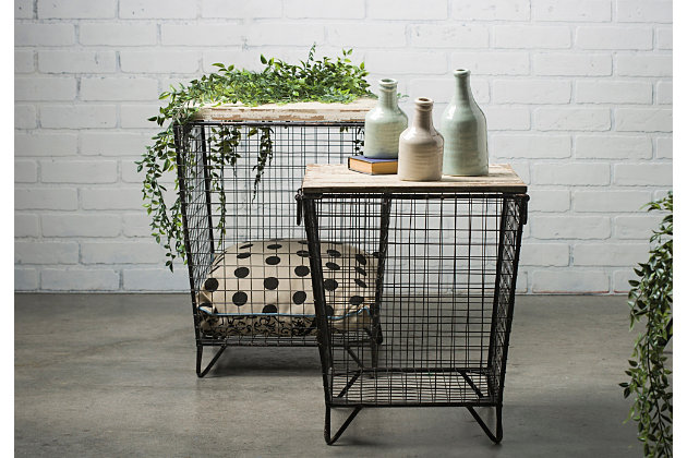 Home Accents Cage Tables (Set of 2), , large