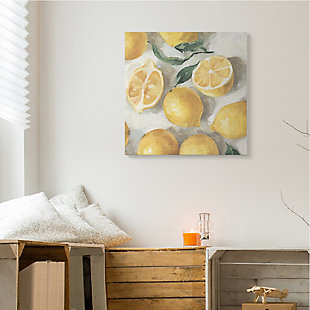 Stupell Industries Citrus Fruits Sliced Lemon Pile Over White, 36 X 36, Canvas Wall Art, Yellow, rollover