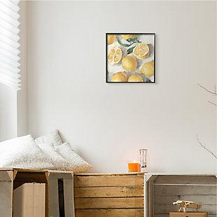 Stupell Industries  Citrus Fruits Sliced Lemon Pile Over White, 12 x 12, Framed Wall Art, , rollover