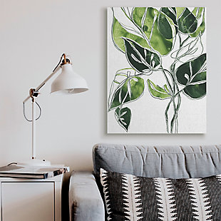 Stupell Industries  Intricate Palm Vines Unique Green Leaves, 36 x 48, Canvas Wall Art, Green, rollover