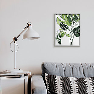 Stupell Industries  Intricate Palm Vines Unique Green Leaves, 16 x 20, Framed Wall Art, Green, rollover