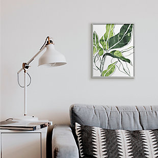 Stupell Industries Expressive Palm Linework Green Pop Detail, 16 X 20, Framed Wall Art, Green, rollover