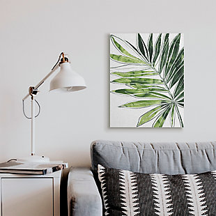 Stupell Industries Tropical Green Plant Expressive Palm Linework, 24 X 30, Canvas Wall Art, Green, rollover