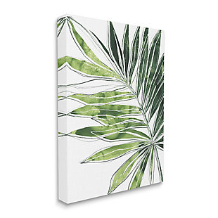 Stupell Industries  Tropical Green Plant Expressive Palm Linework, 36 x 48, Canvas Wall Art, Green, large