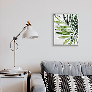 Stupell Industries  Tropical Green Plant Expressive Palm Linework, 16 x 20, Framed Wall Art, Green, rollover