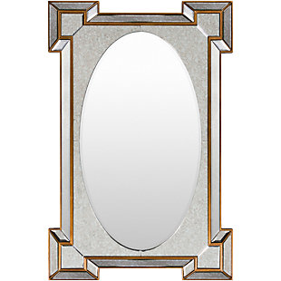 "Home Accents Gold Accent 31.50"" x 47.5"" Mirror, , large"