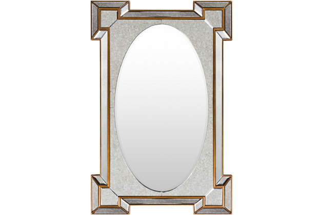 """Home Accents Gold Accent 31.50"""" x 47.5"""" Mirror, , large"""
