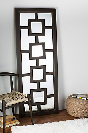 "Home Accents Geometric 27"" x 70"" x 2.25"" Mirror, , rollover"