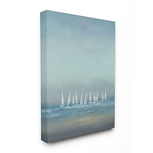 Stupell Industries  The Regatta Abstract Seascape,30 x 40, Canvas Wall Art, , large